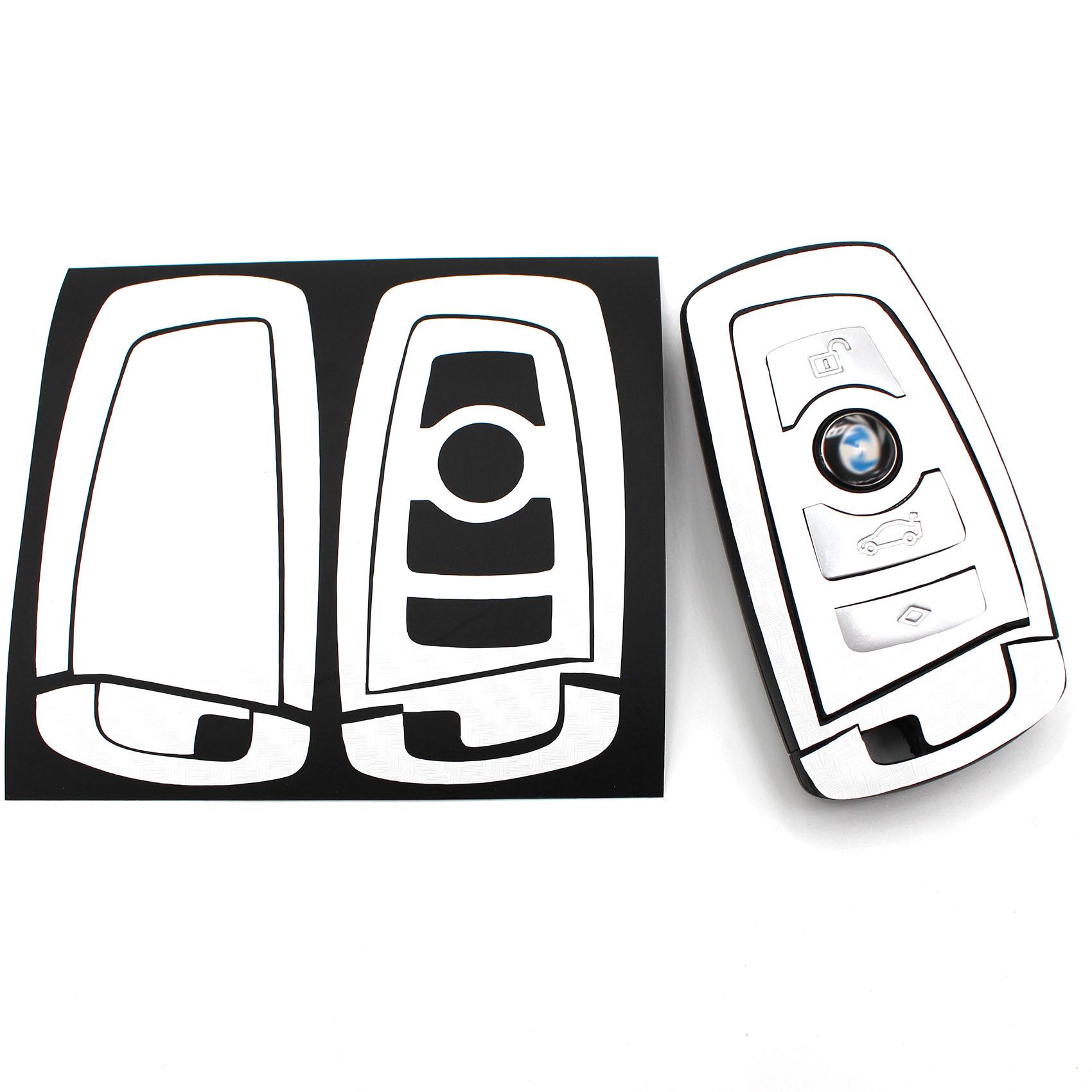 Carbon Gold Folie für BMW C Schlüssel Key Case Hülle Autoschlüssel M Paket