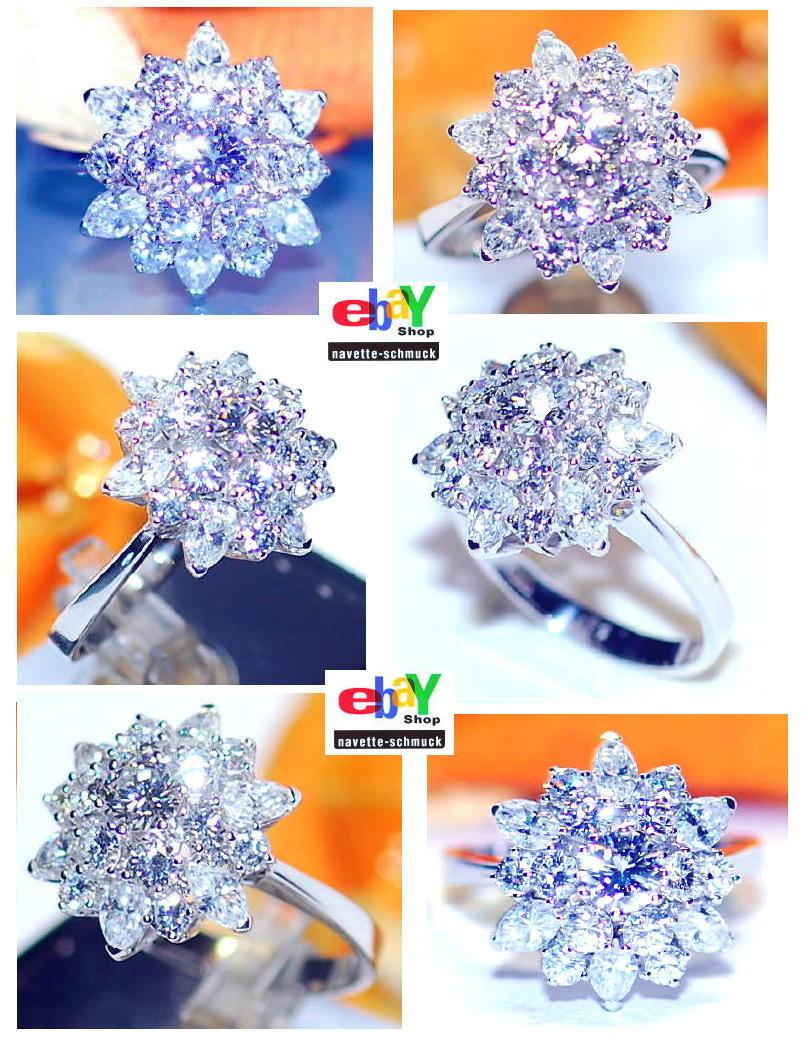 wertvoller exclusiver 3 10ct brillant diamant 585er goldring wert euro ebay. Black Bedroom Furniture Sets. Home Design Ideas