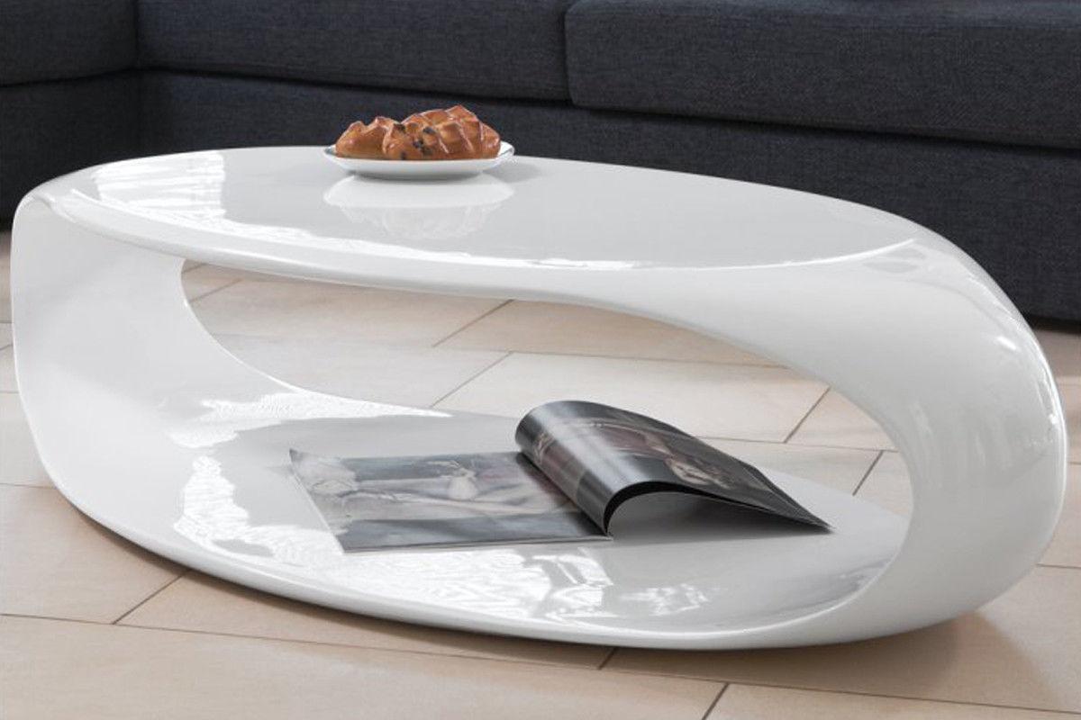 couchtisch wei hochglanz 120 cm oval wohnzimmertisch. Black Bedroom Furniture Sets. Home Design Ideas