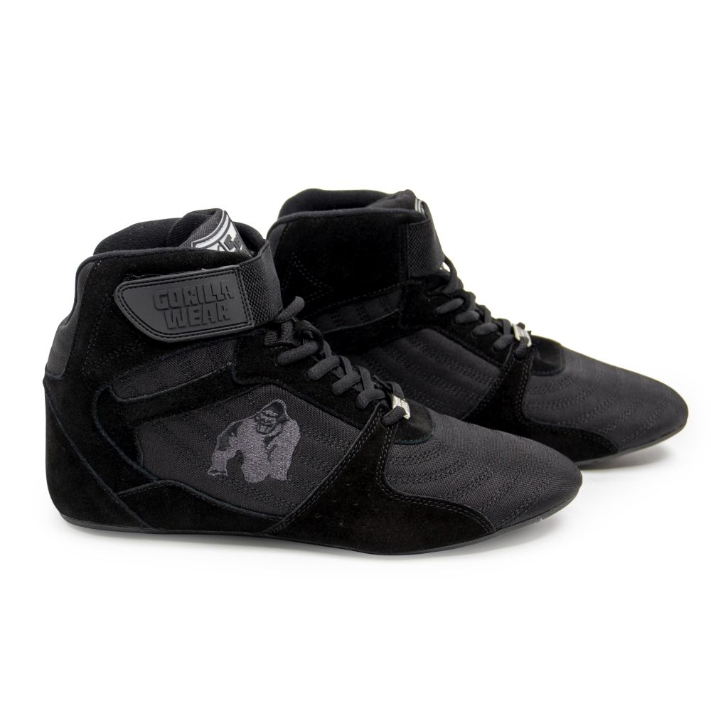 63fd87dca8f8 Details about GORILLA WEAR Perry High Tops Per Black Black Bodybuilding and  Fitness Shoes