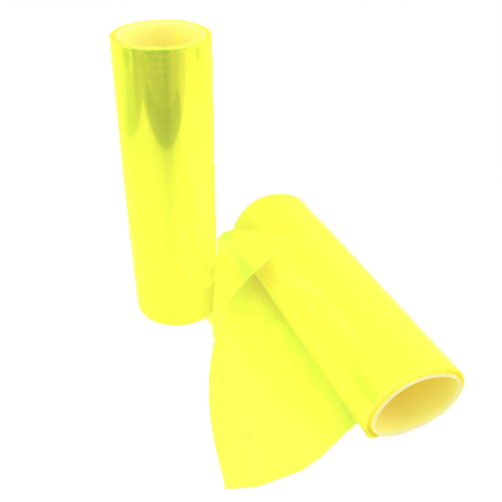 neon gelb scheinwerfer folie t nungsfolie 30x100cm gelb. Black Bedroom Furniture Sets. Home Design Ideas
