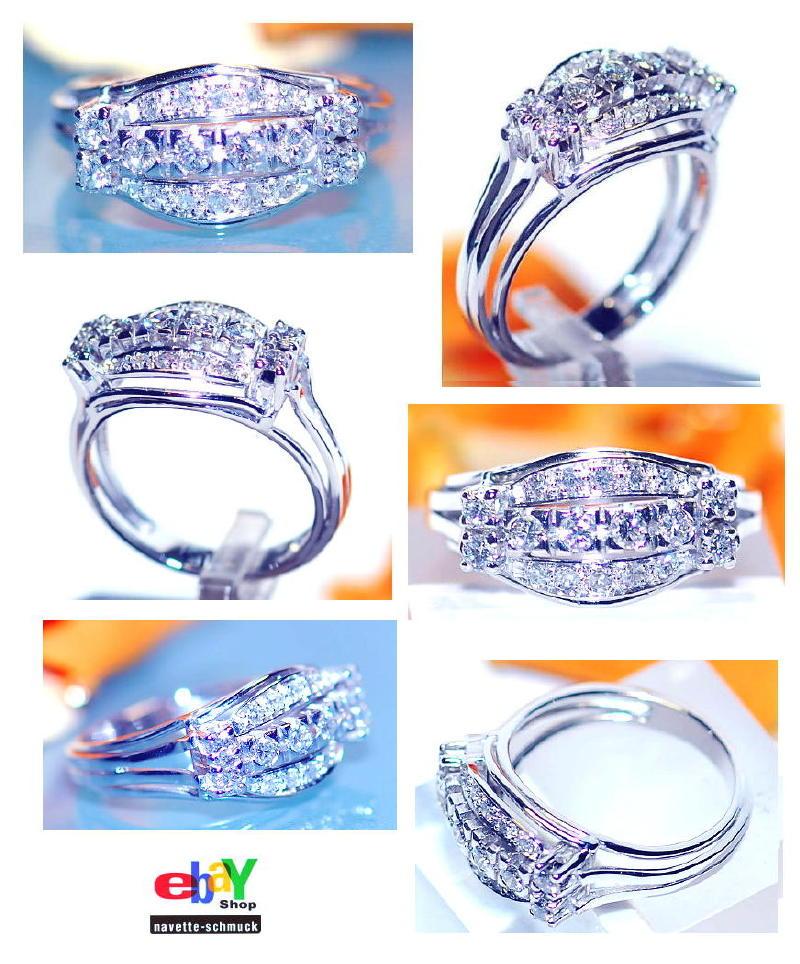 wertvoller exclusiver 0 94ct brillant diamant 585er goldring wert 3990 euro rar ebay. Black Bedroom Furniture Sets. Home Design Ideas