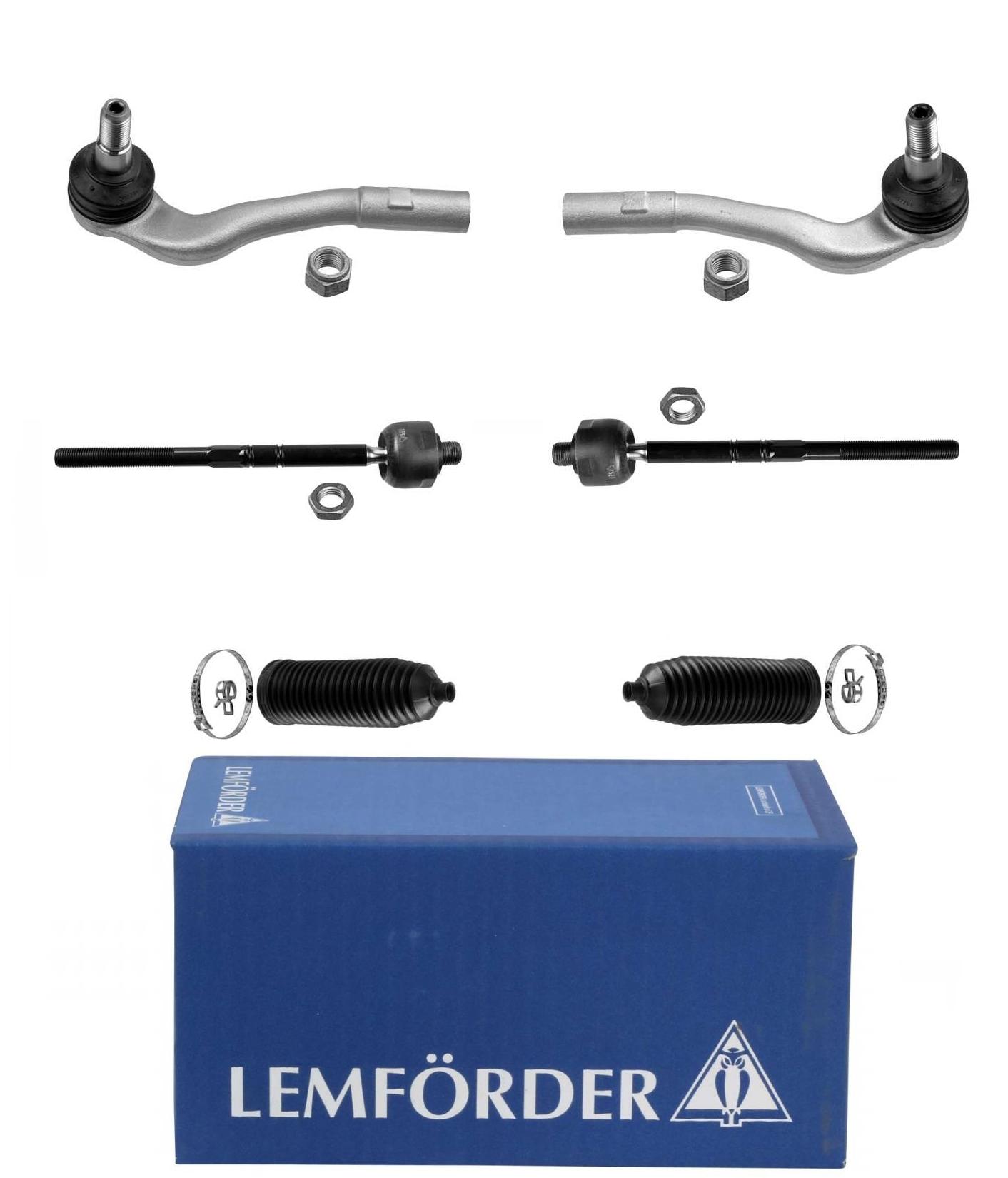 re. u 2x Lemförder Spurstange mit Lenkmanschette AUDI,SEAT,SKODA,VW Vorne li