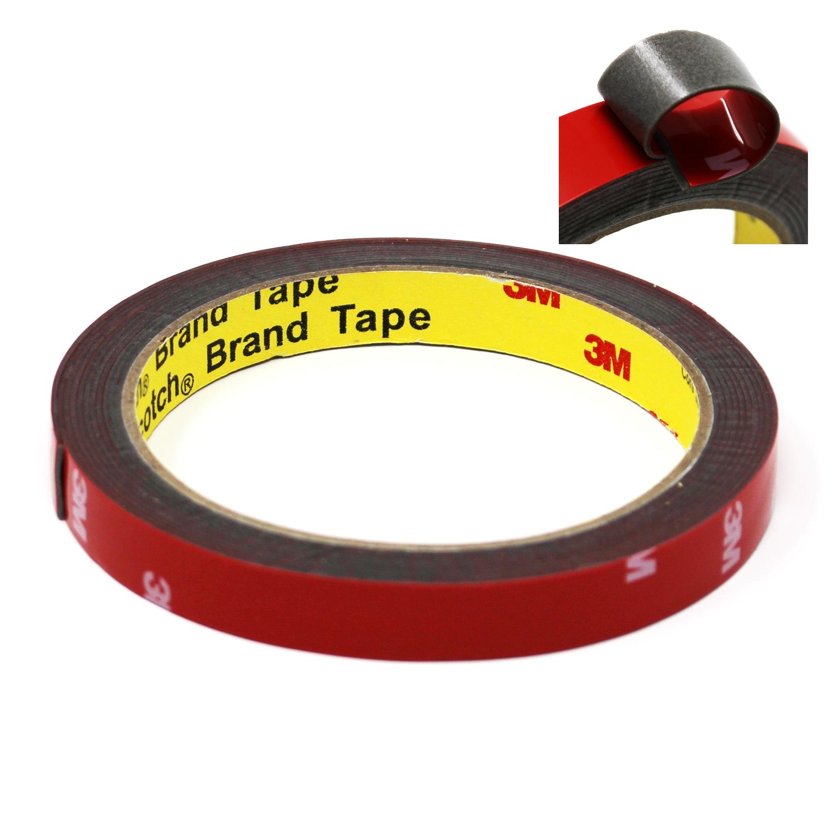 Doppelseitiges Klebeband Transparent Rot Extra Stark Montageklebeband 10 mm
