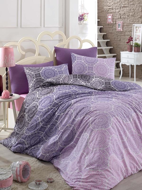 bettw sche biber 135 x 200 flanell lila rosa warm winter muster bunt baumwolle ebay. Black Bedroom Furniture Sets. Home Design Ideas