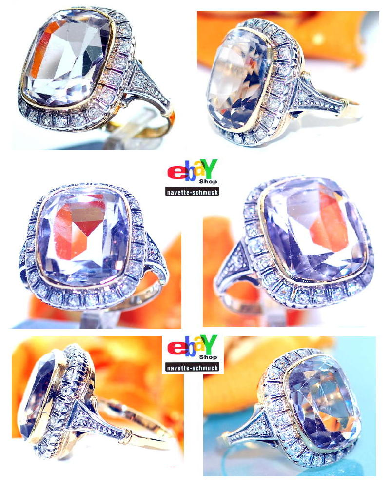 wertvoller exclusiver antiker 10 72ct diamant amethyst 585 goldring wert 3990 ebay. Black Bedroom Furniture Sets. Home Design Ideas