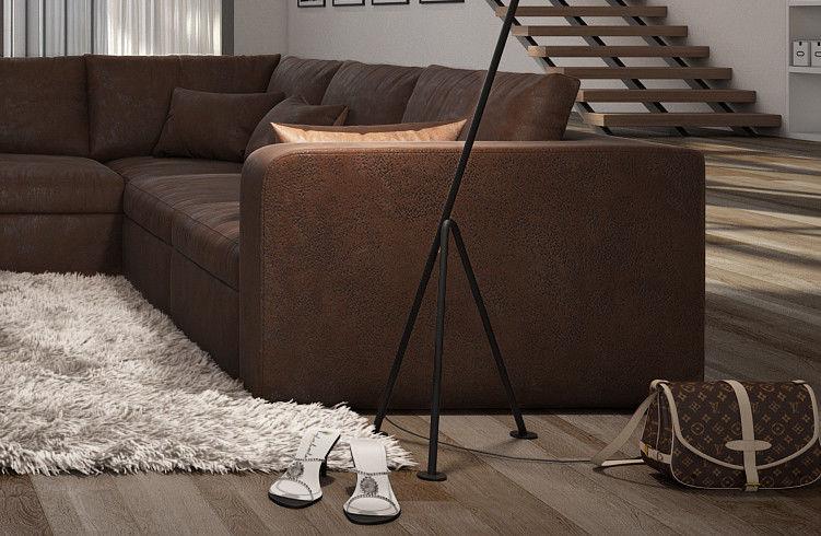 b ware sofa couch wohnlandschaft l form big sofa braun 320 cm sale ebay. Black Bedroom Furniture Sets. Home Design Ideas