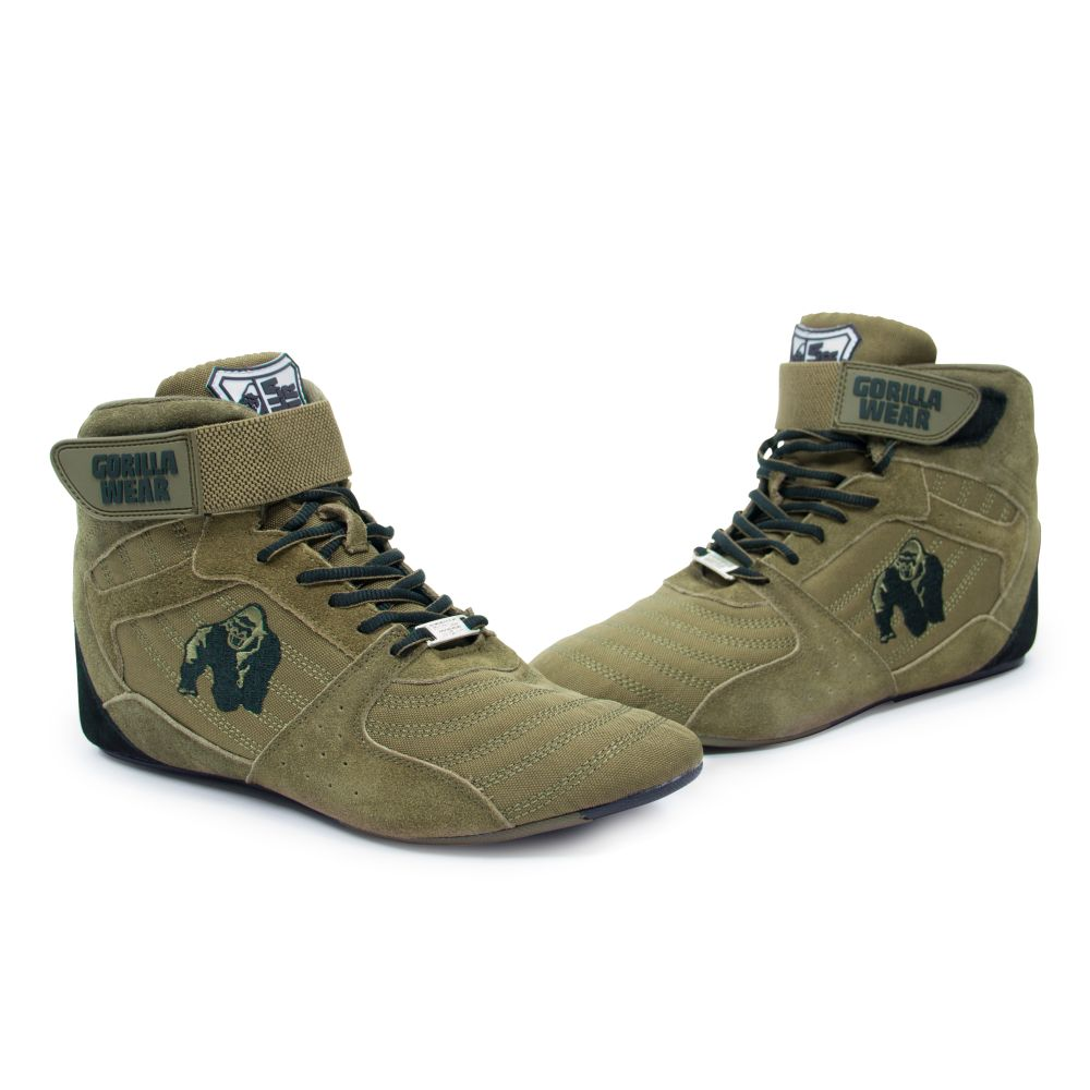 b2f1f4bc2e3e Gorilla Wear Perry High Tops pro Army Green Bodybuilding and Fitness Shoes