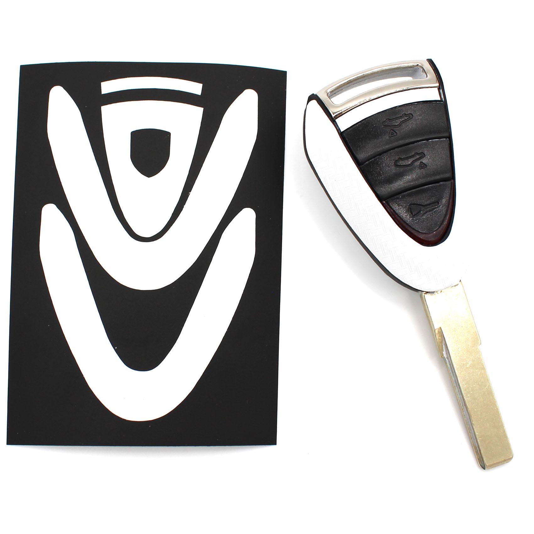 carbon wei folie schl ssel porsche b 911 h lle folie. Black Bedroom Furniture Sets. Home Design Ideas