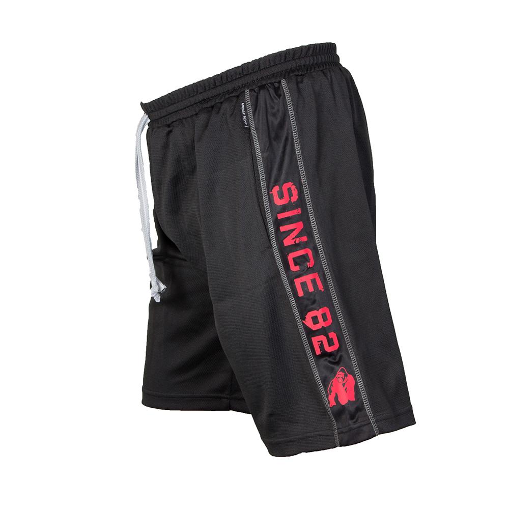 nero//rosso Gorilla Wear Pantaloncini sportivi in rete