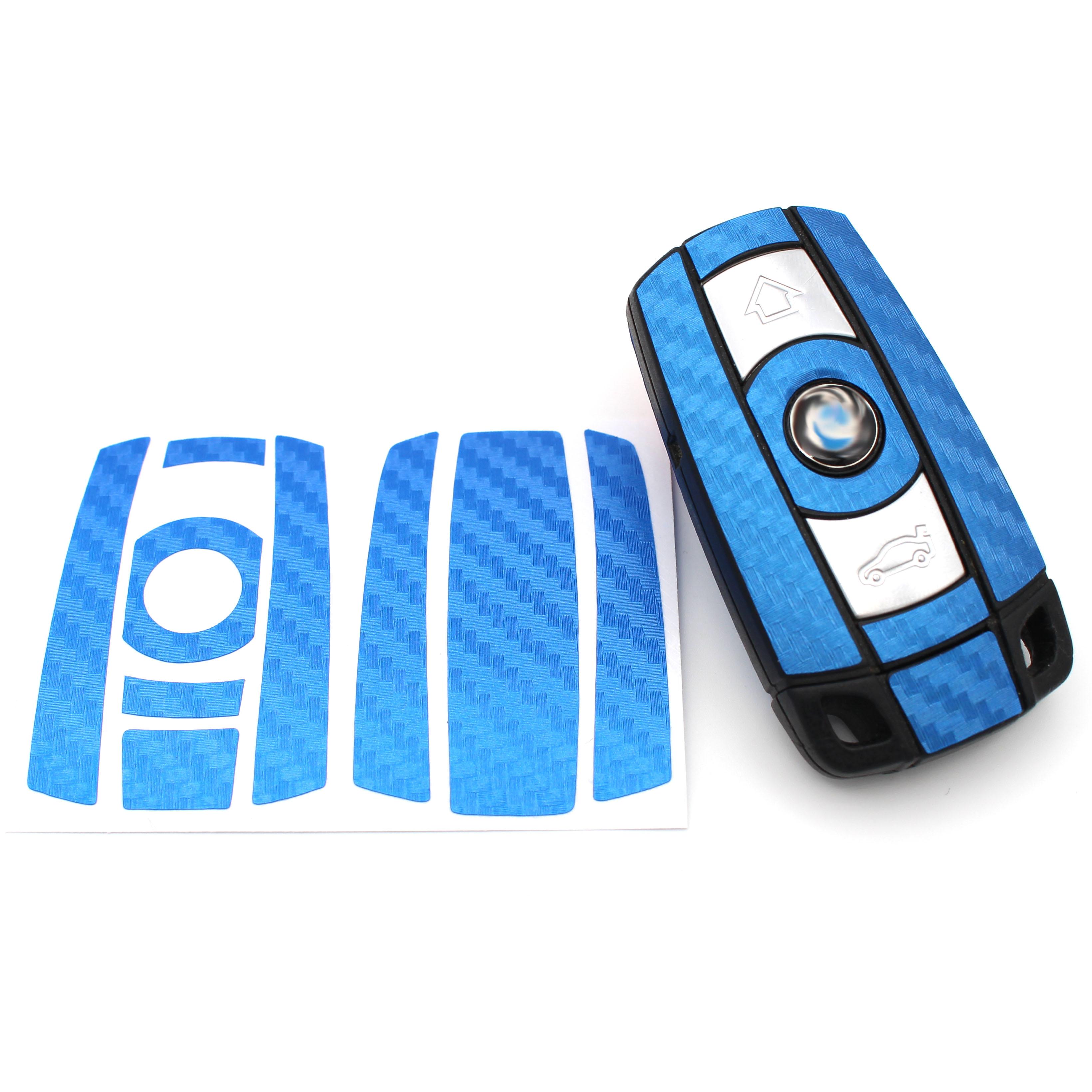 Carbon Anthraz Folie für BMW C Schlüssel Key Case Hülle Autoschlüssel