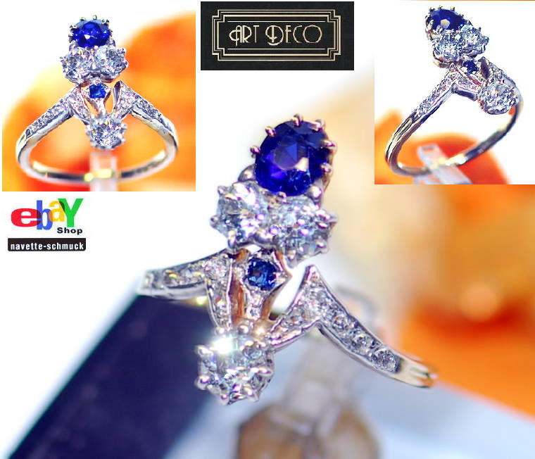 wertvoller exclusiver 1 30ct diamant saphir platin 585 goldring wert 2390 rar ebay. Black Bedroom Furniture Sets. Home Design Ideas