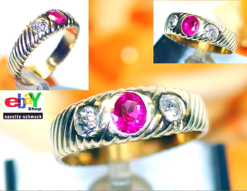 wertvoller exclusiver antiker 1 40ct diamant rubin 585er goldring wert 3990 rar ebay. Black Bedroom Furniture Sets. Home Design Ideas