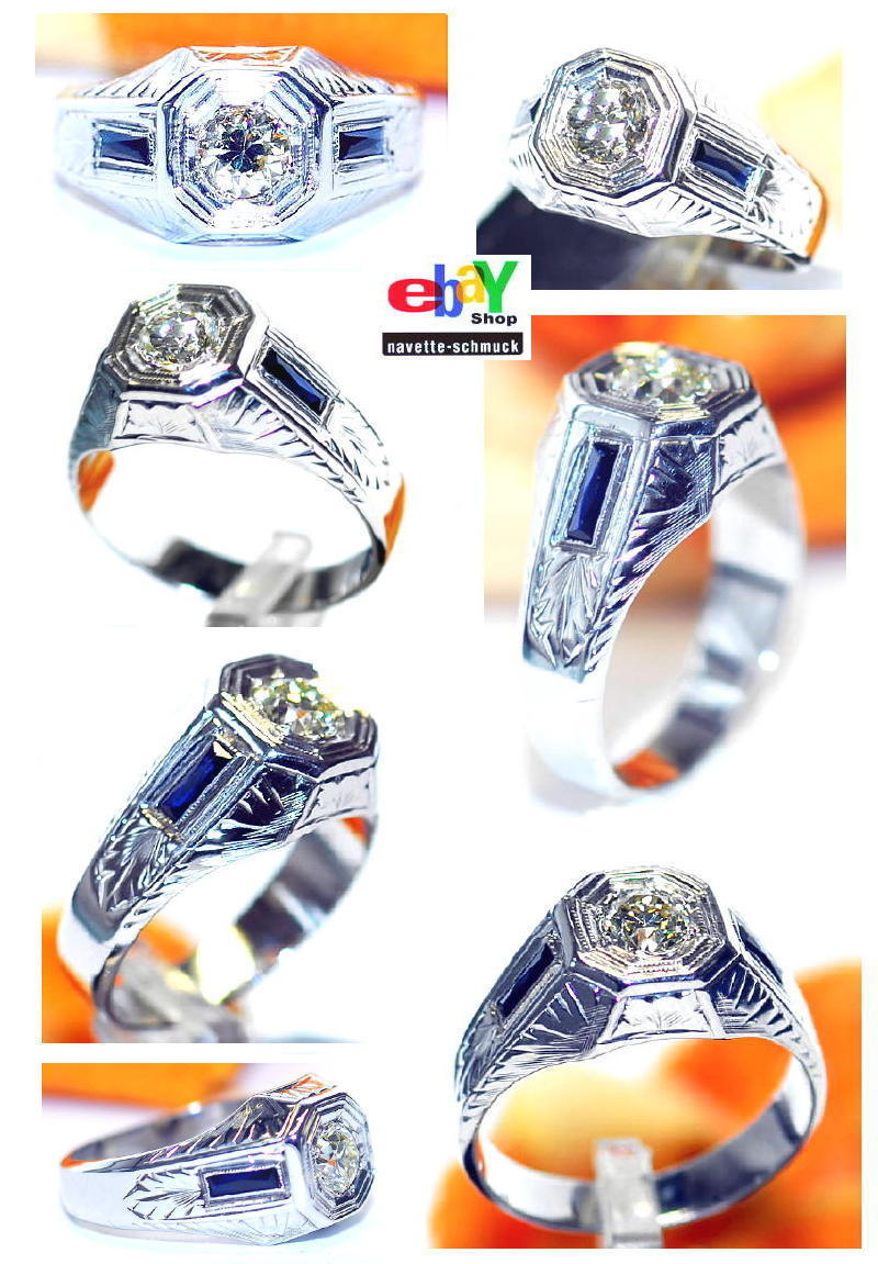 wertvoller exclusiver 1 20ct diamant saphir 585er goldring wert 5990 rar ebay. Black Bedroom Furniture Sets. Home Design Ideas